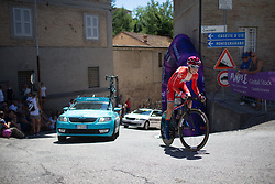 Cecilie Uttrup Ludwig (DEN) of Cervélo-Bigla Cycling Team rides near the top of the final climb of Stage 5 of the Giro Rosa - a 12.7 km individual time trial, starting and finishing in Sant'Elpido A Mare on July 4, 2017, in Fermo, Italy. (Photo by Balint Hamvas/Velofocus.com)