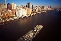 Tug Boat Barge East River NYC, USA