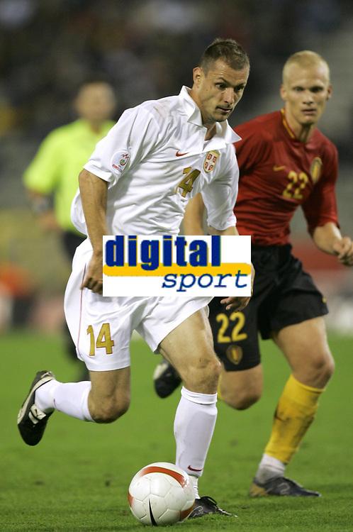 Fotball<br /> 22.08.2007<br /> EM-kvalifisering<br /> Belgia v Serbia<br /> Foto: PhotoNews/Digitalsport<br /> NORWAY ONLY<br />   <br /> MILAN JOVANOVIC