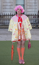 Image ©Licensed to i-Images Picture Agency. 04/06/2014. London, United Kingdom. Royal Academy Summer Exhibition Preview Party. Grayson Perry arrives to the Summer Exhibition Preview Party at the Royal Academy of Arts. Picture by Daniel Leal-Olivas / i-Images