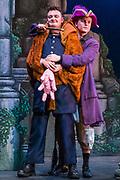 Dress rehearsal for The Pirates of Penzance performed by during the National Gilbert & Sullivan Opera Company Tour in Buxton Opera House Buxton, England on Tuesday 31 July 2018 Photo: Jane Stokes<br /> <br /> DIRECTOR/Richard Gauntlett<br /> CONDUCTOR/Andrew Nicklin<br /> CHOREOGRAPHER/Danielle Dowsett<br /> MAJOR-GENERAL STANLEY/Richard Gauntlett<br /> THE PIRATE KING/Eddie Wade<br /> SAMUEL/Stephen Godward<br /> FREDERIC/Nick Sales<br /> SERGEANT OF POLICE/ Matthew Kellett<br /> MABEL/Ellen Angharad Williams<br /> EDITH/Jennifer Parker<br /> KATE/Stephanie Poropat<br /> ISABEL/Alexandra Hazard<br /> RUTH/Mae Hendorn<br /> <br /> THE CHORUS<br /> Hannah Boxall, Nicole Boardman, Rhiannon Doogan, Joanna Goldspink, Maisy Hepburn, Juliet Montgomery, Julie Power, Eloise Waterhouse, Emma Watkinson<br /> <br /> Andrew Brown, Tom Blackwell, Peter Brooks, Stephen Fawell, Stephen Godward, Michael Vincent Jones, Matthew Siveter, Henry Smith, Jonathan Stevens, Tim Southgate<br /> <br /> TOUR MANAGER/Neil Smith<br /> STAGE MANAGER/Sarah Kent<br /> ASSISTANT STAGE MANAGER/Claire Litton<br /> LIGHTING DESIGN/David Marsden<br /> WARDROBE SUPERVISOR/ David Morgan<br /> SET DESIGN/ Paul Lazell<br /> REPETITEUR/Erica Gundesen