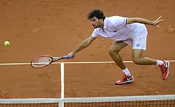 13-09-2014 NED: Davis Cup Nederland - Kroatie, Amsterdam<br /> Nederland verliest de dubbel en staat op de tweede dag met 2-1 achter /
