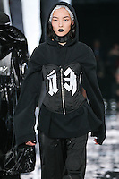 Fei Fei Sun walks the runway wearing PUMA x FENTY by Rihanna Fall 2016 during New York Fashion Week on February 12, 2016