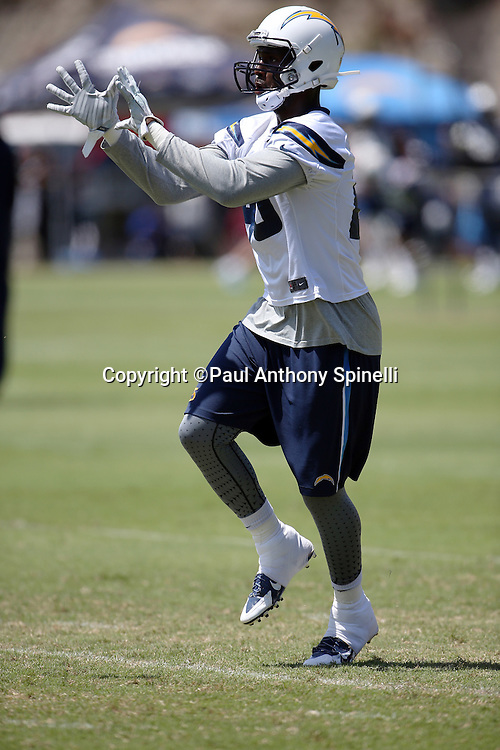 San Diego Chargers tight end Asante Cleveland (45) catches a pass during the Chargers 2016 NFL minicamp football practice held on Tuesday, June 15, 2016 in San Diego. (©Paul Anthony Spinelli)