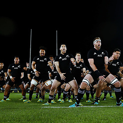 NELSON, NEW ZEALAND - SEPTEMBER 08:  Kieran Read of the All Blacks leads the haka during The Rugby Championship match between the New Zealand All Blacks and Argentina at Trafalgar Park on September 8, 2018 in Nelson, New Zealand.  Photo by Anthony Au-Yeung / POOL