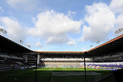 General view of the Constant Vanden Stockstadion - Photo mandatory by-line: Dougie Allward/JMP - Mobile: 07966 386802 - 22/10/2014 - SPORT - Football - Anderlecht - Constant Vanden Stockstadion - R.S.C. Anderlecht v Arsenal - UEFA Champions League - Group D