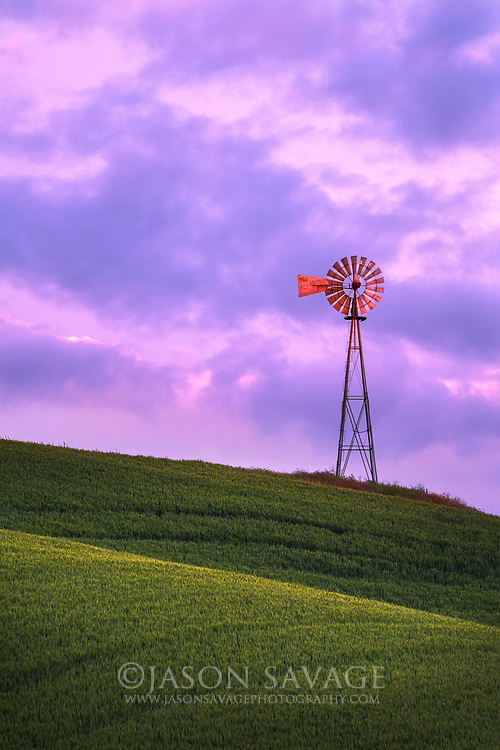 Windmill in the Palouse, Washington.