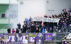 Viole, fans of Maribor during football match between NK Zavrc and NK Maribor in 15th Round of Prva liga Telekom Slovenije 2014/15, on October 25, 2014 in Mestni stadion Ptuj, Slovenia. Photo by Marjan Kelner / Sportida