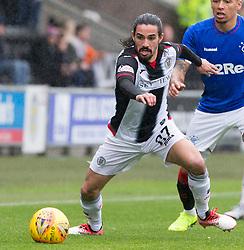 St Mirren Ryan Edwards  during the Ladbrokes Scottish Premier League match at St Mirren Park, St Mirren.