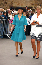 DAVINA BARBER she was Davina Duckworth-Chad, a friend of Prince William's at the wedding of Laura Parker Bowles to Harry Lopes held at Lacock, Wiltshire on 6th May 2006.<br /><br />NON EXCLUSIVE - WORLD RIGHTS