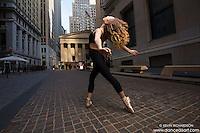 Wall Street Ballerina Dance As Art New York City Photography featuring Manon Hallay