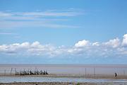 Sao Luis_MA, Brasil...Vista geral de uma  praia com pescador de camarao na comunidade de Cajueiro, Maranhao...A beach with fishermen of shrimp in the Cajueiro community, Maranhao...Foto: LEO DRUMOND / NITRO.