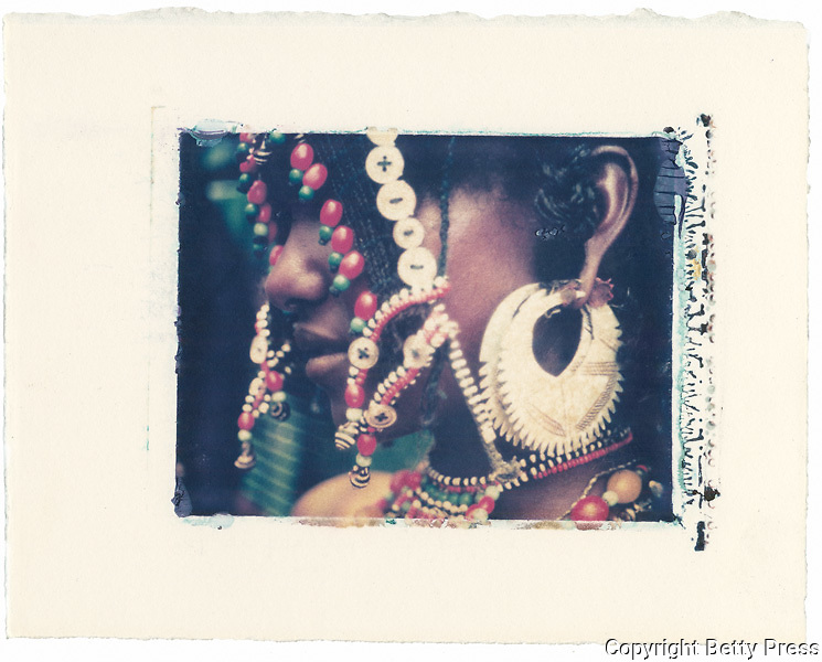 Afar girl dressed for a festival.<br />