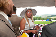 SHEM CLEMMY ALCOTT, Glorious Goodwood. Ladies Day. 28 July 2011. <br /> <br />  , -DO NOT ARCHIVE-© Copyright Photograph by Dafydd Jones. 248 Clapham Rd. London SW9 0PZ. Tel 0207 820 0771. www.dafjones.com.
