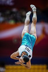 November 2, 2018 - Doha, Qatar - Oksana Chusovitina of Uzbekistan   during  Vault for Women at the Aspire Dome in Doha, Qatar, Artistic FIG Gymnastics World Championships on 2 of November 2018. (Credit Image: © Ulrik Pedersen/NurPhoto via ZUMA Press)