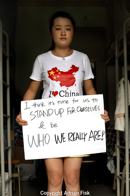 Jell Zhu - 22 Yrs.<br /> Student of communication.<br /> Guangdong Province.<br /> <br /> 'I think its time for us to stand up for ourselves and be who we really are'.