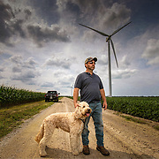 Canadian farmer portrait photographed on assignment for Farm Life Magazine.