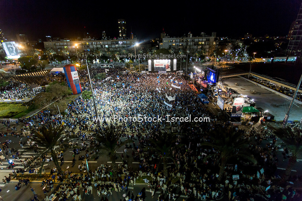 On the 4th of November 1995, Israeli Prime Minister Yitzhak Rabin was assassinated after a peace rally in Tel Aviv's main square. Ever since an annual memorial event is held in the same place with a call to follow Rabin's guidelines and fight for peace. Photographed in November 2014