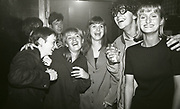 Group of clubbers at The Boardwalk in Manchester, October 1991.