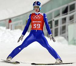 06-02-2014 SCHANSSPRINGEN: OLYMPIC GAMES: SOTSJI<br /> Training Schansspringen op het Russki Gorki Jumping Center / Jaka Hvala SLO<br /> ©2014-FotoHoogendoorn.nl<br />  / Sportida