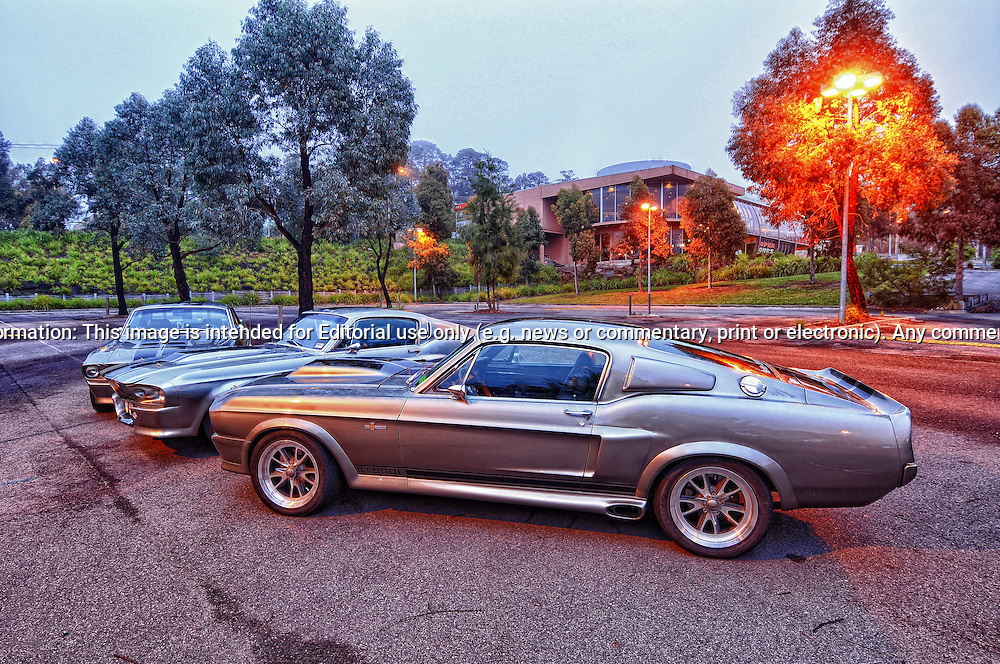 1968 & 1967 Ford Mustang Fastback Mustang Eleanor Replica's of the Year 2000 Movie car from Gone in 60 seconds.23rd October 2011.(C) Joel Strickland Photographics.Use information: This image is intended for Editorial use only (e.g. news or commentary, print or electronic). Any commercial or promotional use requires additional clearance.