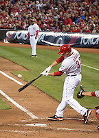 Jay Bruce batting for the Cincinnati Reds