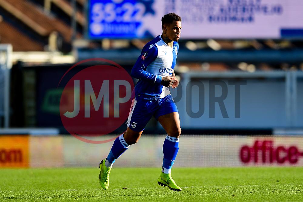 Jonson Clarke-Harris of Bristol Rovers - Mandatory by-line: Ryan Hiscott/JMP - 10/11/2019 - FOOTBALL - Memorial Stadium - Bristol, England - Bristol Rovers v Bromley - Emirates FA Cup first round