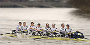 Chiswick, London. ENGLAND,11.03.2006, Leander RC, starting at No.1 pass Chiswick Pier during the 2006 Women's Head of the River Race,  Mortlake to Putney  on Saturday 11th March    © Peter Spurrier/Intersport-images.com.. 2006 Women's Head of the River Race. Rowing Course: River Thames, Championship course, Putney to Mortlake 4.25 Miles
