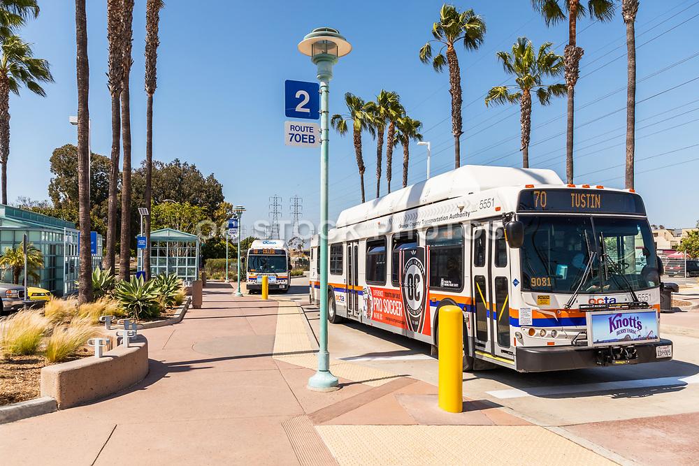 Golden West Transportation Center OCTA Bus