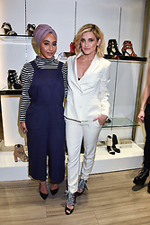 Left To Right, Mariah Idrissi and Ashley Roberts at a party to launch Ashley Robert's new footwear range Allyn held ay Larizia, 74 St.John's Wood High Street, London England. 8 February 2017.