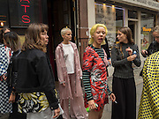 Demi Scott, Models from Amo casting modeling clothes by Keji in Soho, September 2016