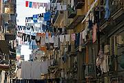 Naples, Italy, 2006-Laundry hanging across a Neapolitan street