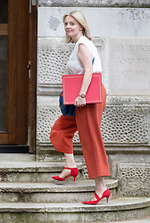 © Licensed to London News Pictures. 28/08/2019. London, UK. Secretary of State for International Trade Liz Truss enters the Foreign Office from the back of Downing Street. Earlier it emerged that The Queen will be asked by the government to suspend Parliament in the days after MPs return to work in September - a few weeks before the Brexit deadline of October 31st. Photo credit: Peter Macdiarmid/LNP