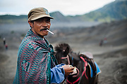Mountain guide at Mount Bromo volcano, Java, Indonesia