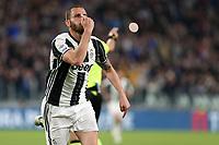 23.04.2017 - Torino - Serie A 2016/17 - 33a giornata  -  Juventus-Genoa nella  foto: Leonardo Bonucci esulta dopo il gol del 4 a 0
