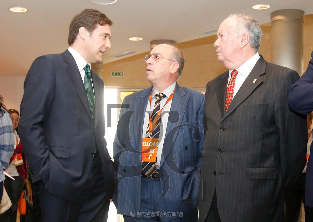 Pedro Passos Coelho, Jaime Ramos e Alberto João Jardim antes da sessão de encerramento do XIII Congresso  do PSD Madeira..Foto Gregorio Cunha