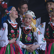 London,England,UK : 1st May 2016 : Hundreds from the Polish community and local attend the Days of Poland Festival 2016 to promote Polish culture food & drinks with arts and music at Potters Fields Park, Tower Bridge , London . Photo by See Li