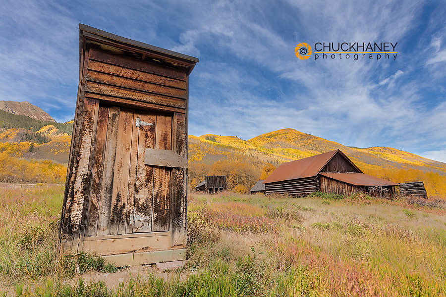 Ghost town of Ashcroft in autumn near Aspen, Colorado, USA