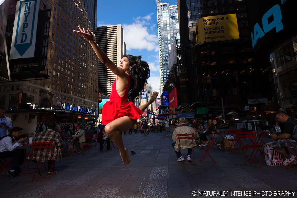 Times Square Dancer Sylvana Tapia- Dance As Art Leap! The New York Photography Project.