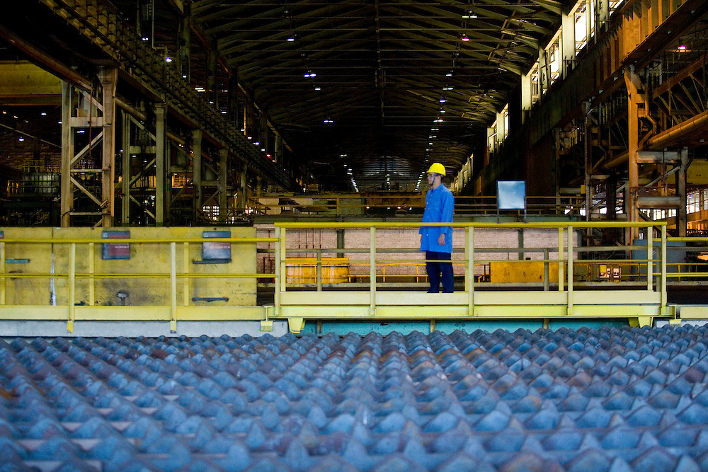 Ouro Branco_MG, Brasil...Setor de resfriamento de tarugos de uma industria siderurgica...The cooling sector of round bar at steel industry...Foto: BRUNO MAGALHAES / NITRO