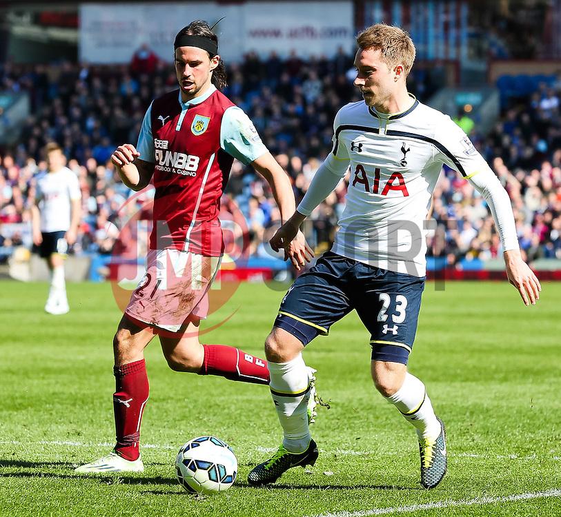 Tottenham Hotspur's Christian Eriksen in action - Photo mandatory by-line: Matt McNulty/JMP - Mobile: 07966 386802 - 05/04/2015 - SPORT - Football - Burnley - Turf Moor - Burnley v Tottenham Hotspur - Barclays Premier League
