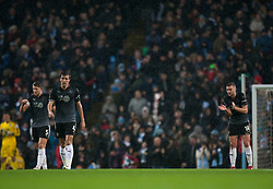 Burnley players look dejected after Kevin De Bruyne of Manchester City (Not Pictured) scores their third goal - Mandatory by-line: Jack Phillips/JMP - 26/01/2019 - FOOTBALL - Etihad Stadium - Manchester, England - Manchester City v Burnley - Emirates FA Cup