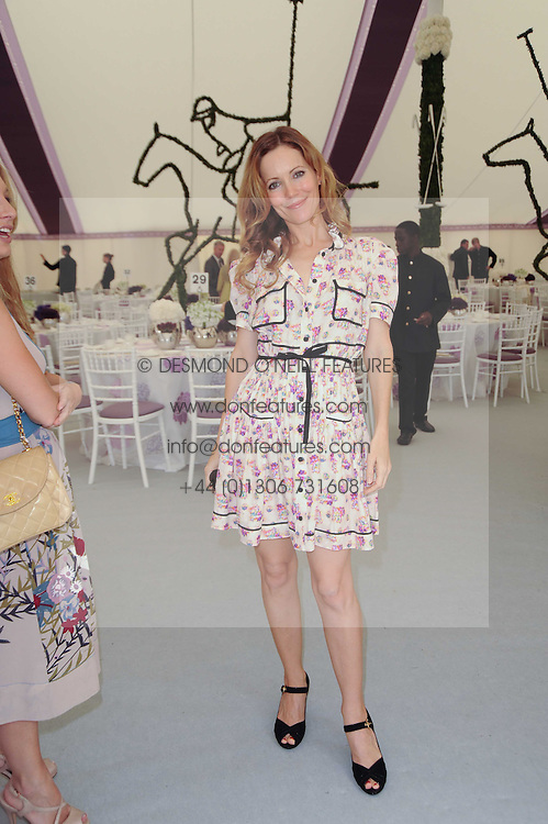 Actress LESLIE MANN at the Cartier International Polo at Guards Polo Club, Windsor Great Park, Berkshire on 25th July 2010.