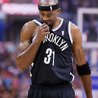 16 November 2013: Brooklyn Nets shooting guard Jason Terry (31) looks dejected during the Los Angeles Clippers 110-103 victory over the Brooklyn Nets at the Staples Center, Los Angeles, California, USA.