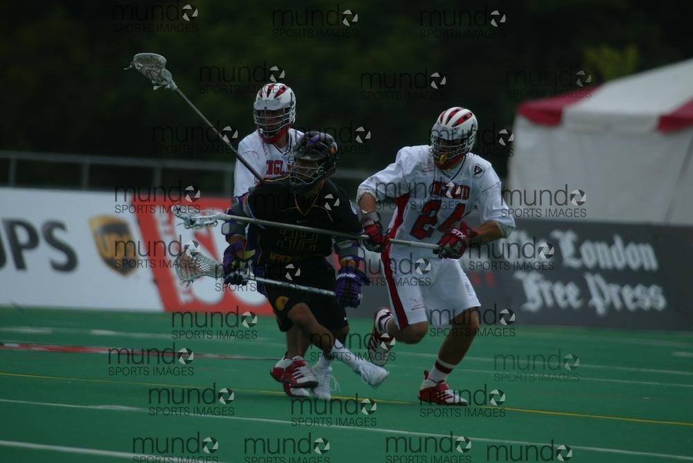 Niagara Falls, Ontario ---06/7/14--- England vs Iroquois .GEOFF ROBINS