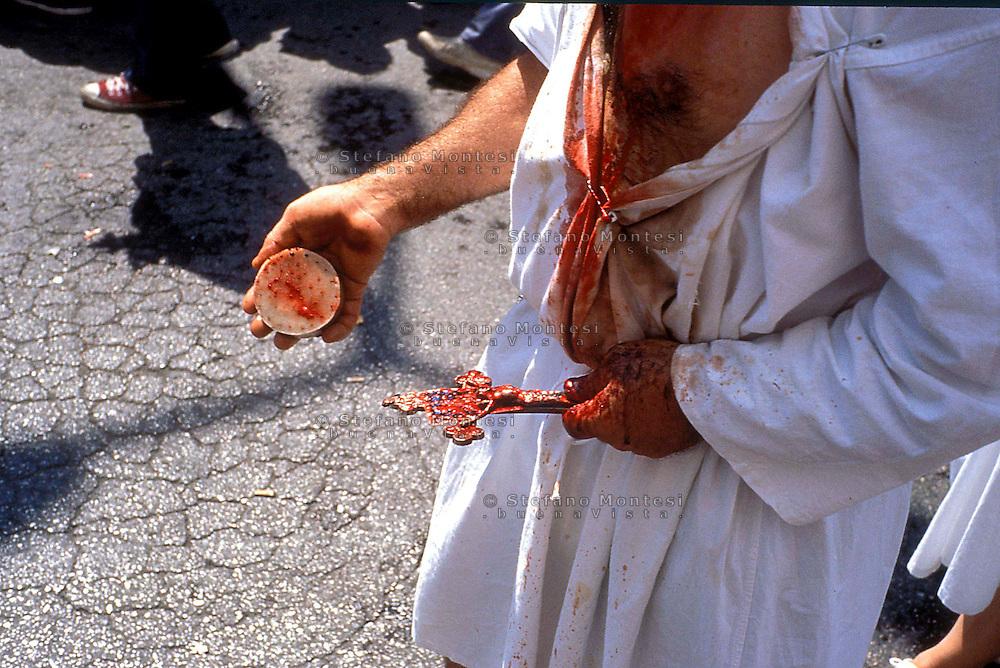 Septennial feast of Battenti Guardia Sanframondi Campania Italy..