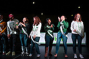 The Homecoming Court is introduced on stage at the Yell Like Hell Pep Rally. © Ohio University / Photo by Kaitlin Owens