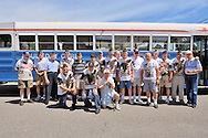 Merrick Post #1282 American Legion and Veterans from New York State Nursing Home Stony Brook NY group photo taken in front of Adult Day Care bus when Merrick Post hosted barbecue, in Merrick, New York, USA, on August 13, 2011. Included are Commander Ed Sholaner, Past County Commander Tom Riordan, and Pearl Harbor survivor Bill Halleran.  Photo © 2011 Ann Parry, All rights reserved. Ann-Parry.com