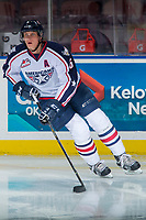 KELOWNA, CANADA - OCTOBER 27: Juuso Välimäki #6 of the Tri-City Americans warms up against the Kelowna Rockets on October 27, 2017 at Prospera Place in Kelowna, British Columbia, Canada.  (Photo by Marissa Baecker/Shoot the Breeze)  *** Local Caption ***