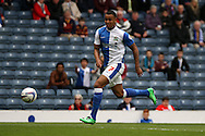 Blackburn Rovers&rsquo;  Joshua King in action. Skybet football league championship match, Blackburn Rovers v Wigan Athletic at Ewood Park in Blackburn, England on Saturday 3rd May 2014.<br /> pic by Chris Stading, Andrew Orchard sports photography.